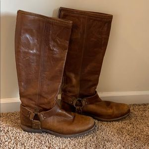 Brown Frye Phillip Harness riding boots